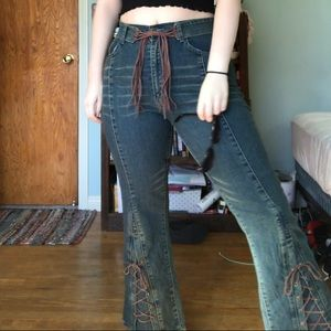 Vintage 70's-style Bell Bottom Jeans